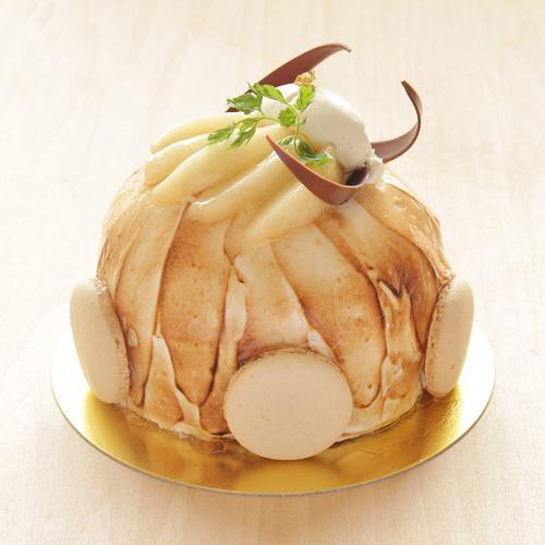 本店限定2017年12月サンクス・ケーキ「美瑛の冬景色」北海道産洋梨を使ったケーキ
