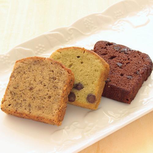 パウンドケーキ3種(紅茶・抹茶・無花果ショコラ)