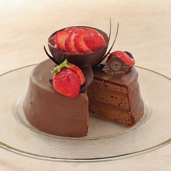 本店限定2020年2月サンクス・ケーキ「しあわせのショコラトルテ」